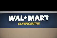 Walmart store signage Royalty Free Stock Images