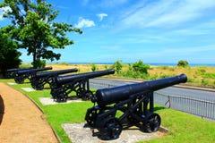 Walmer城堡大炮肯特海岸英国 免版税库存照片