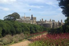 Walmer Castle. From the main Gardens. Built by Henry VIII to defend the Kent coast Stock Image