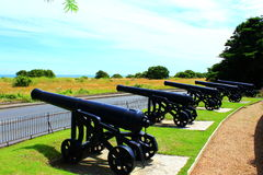 Walmer Castle cannons Kent coast England Royalty Free Stock Images