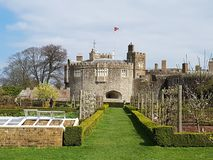Walmer Castle and Garden at Kent, England, UK. Architecture, historical stock photo