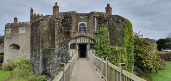 Walmer Castle at Kent, England, UK. Architecture, historical royalty free stock photos