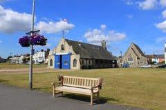 Walmer-Promenade Kent England stockfotografie