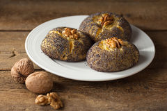 Walnuss Poppy Seed Cake Stockfoto
