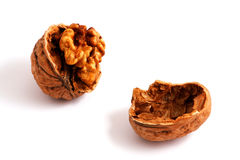 Walnut. Fresh walnut on white background Stock Photo