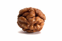 Walnut. Closeup isolated on white background Royalty Free Stock Photo