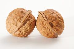 Walnut. Close up on white background Stock Photos