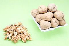Walnut. S contained a  in the autumn season royalty free stock photo