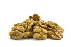 Walnut. Side view walnut on white background royalty free stock photos