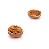 Walnut. The split walnut which is represented on a white background Royalty Free Stock Images