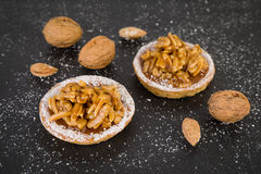 Walnut almond cookies Stock Photography