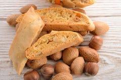 Walnut almonds Biscotti Royalty Free Stock Photos