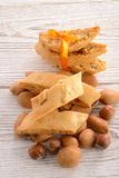 Walnut almonds Biscotti Royalty Free Stock Photo