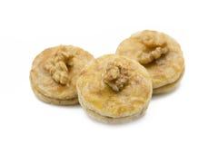 Walnut apricot cookies Royalty Free Stock Photos