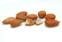 Walnut apricot on a white background Stock Photo