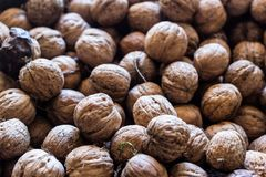 Walnut background texture stock photography