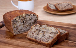 Walnut banana bread Royalty Free Stock Photo