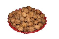 Walnut isolated on white background. with clipping path Stock Image