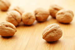 Walnut on board Royalty Free Stock Image