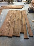 Walnut boards Stock Images