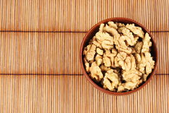 Walnut in a bowl Royalty Free Stock Images
