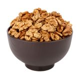Walnut in the bowl Stock Images