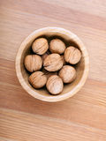Walnut in a bowl Stock Photography