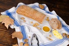 Walnut bread of autumn Royalty Free Stock Photo