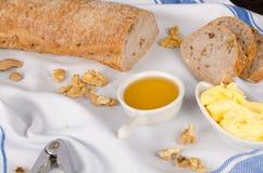 Walnut bread of fall Stock Photos