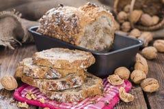 Walnut Bread (fresh baked) Stock Photos