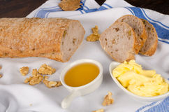 Walnut bread Royalty Free Stock Photo