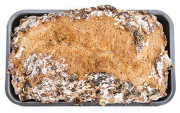 Walnut Bread (isolated on white) Stock Photos