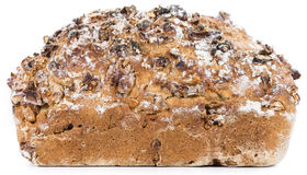 Walnut Bread (isolated on white) Royalty Free Stock Images