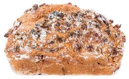 Walnut Bread (isolated on white) Stock Photo