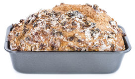Walnut Bread (isolated on white) Royalty Free Stock Photography