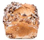 Walnut Bread (isolated on white) Royalty Free Stock Photo