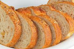 Walnut bread in the plate. S Stock Image