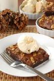 Walnut brownie with ice cream Stock Image