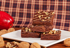 Walnut Brownies Royalty Free Stock Image