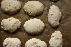 Walnut bun dough royalty free stock image
