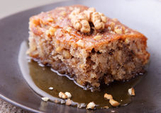 Walnut cake Royalty Free Stock Photos