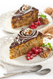Walnut cake Royalty Free Stock Photo