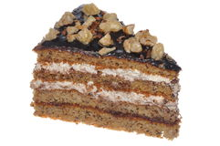 Walnut cake calorie bomb Royalty Free Stock Image