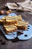 Walnut cake with egg yolk glaze Stock Photo