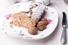 Walnut cake Stock Photos