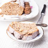 Walnut cake Royalty Free Stock Image