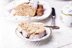 Walnut cake Royalty Free Stock Photography