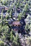 Walnut Canyon. Clift dwellings at Walnut Canyon, National Monument in Arizona royalty free stock image