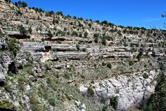 Walnut Canyon. Clift dwellings at Walnut Canyon, National Monument in Arizona royalty free stock images
