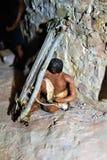 Walnut Canyon. Display miniature model at Walnut Canyon, National Monument in Arizona stock image